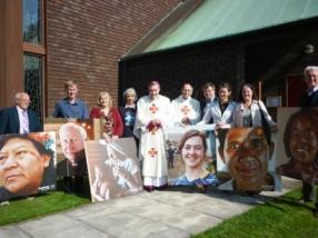 After the 50th Anniversary Mass for CAFOD, with Bishop Mark and Bishop Emeritus Brian