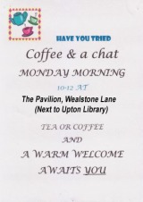 Weekly Coffee Mornings arranged by Churches Together in Upton