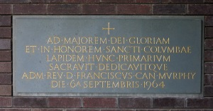 Foundation stone, laid 6th September 1964