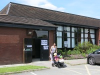 Voting for the next generation - Hall in use as Polling Station, EU Referendum 23-6-16