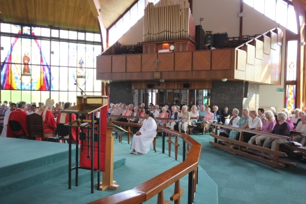UCM & CWL Mass celebrated by Bishop Mark, August 3013