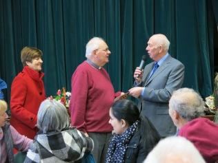 Farewell Gathering: Paul Wrigglesworth gives the presentation