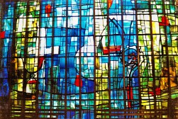 SE main window - original stained glass by Unger & Schulze, now removed