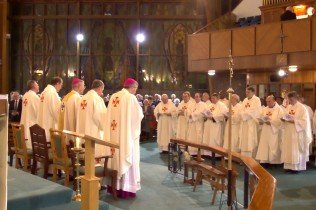 Mass at St Columba's with the Papal Nuncio, Oct. 31 2014. Photo Simon Caldwell