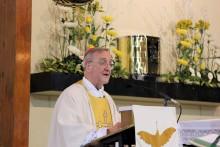 The Apostolic Nuncio, Archbishop Antonio Meninni, preaches in St Columba's Church, Oct. 31 2014. Photo Simon Caldwell