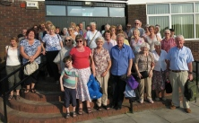 Parishioners & friends, on their return from the outing to Lichfield, 25th July 2014
