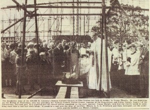 Foundation stone laying - newspaper report