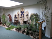 Re-creation of the Iona monastery - by former Catholic High School students Eleanor Andrews, Poppy Jeffrey & Alice Oldfield