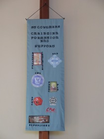 Banner representing parish groups: by Mary Kilcoyne & Val Forrest