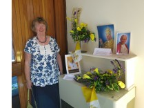 Arch-organiser of the Flower Festival - Sue Carr - who took the next few photos of all the preparations ...