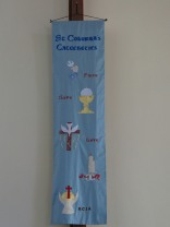 Banner representing the Sacraments: by Jackie Worrall