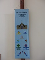 Banner representing young people's groups: by Eileen Hordley