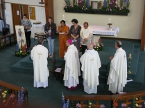Bidding Prayers - offered by English, Italian, Indian, Polish and Filipino parishioners,