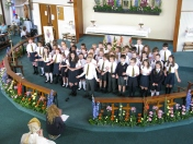 Song about St Columba sung by children from St Werburgh's & St Columba's Primary School