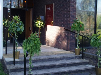 Flower Festival: a floral welcome on the church steps